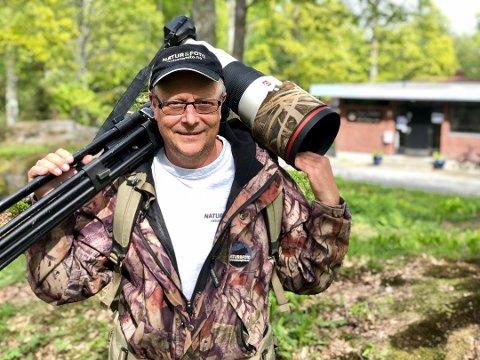 """Jakter med kamera: Baard Næss (54) fra Frogn er endelig i mål med """"Naturens jegere"""", som han og teamet har jobbet med i fire år."""