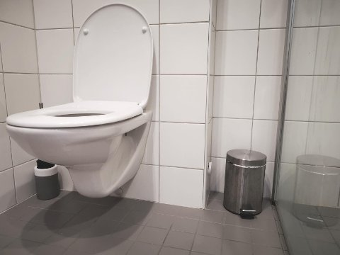 LURT: Den lille søppelbøtten er lur å ha ved toalettet.