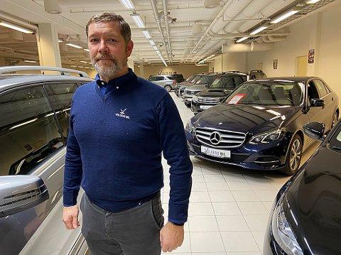 SATSER: Eivind Voldene bruker mange millioner på å kjøpe bruktbiler. FOTO: Ole Jonny Johansen