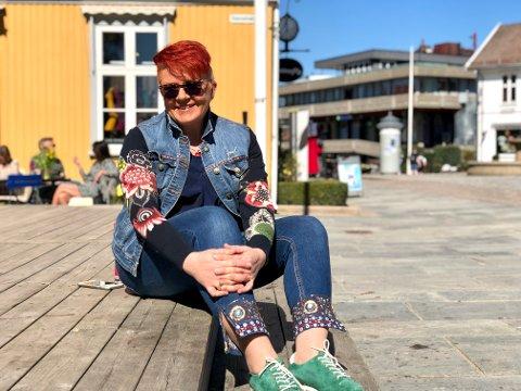 Ble lyttet til: Rita Hirsum Lystad fra Drøbak møtte kulturminister Abid Raja 30. april. Nå håper hun på et korpsvennlig tiltakspakke.