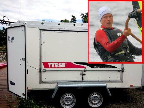 FRASTJÅLET UTSTYR: Seilbrettkjøreren Erik Rondeel etterlyser nå seilbrett utstyr etter et tyveri.