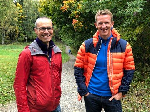 Ikke skvetne: - Man blir godt kjent med hvem man er og hva man tåler, sier Luca Roncorondi (til v.) og Morten Klepp Fundingsrud, som legger ut på et 200 km-løp i helgen.