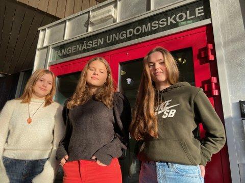 VANSKELIG: - Vi har fått våre begrensninger, sier Thea Barstad (f.v.), Elsa Smeby og Haldis Morstøl. FOTO: Ole Jonny Johansen