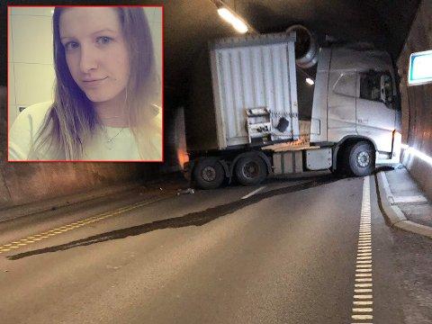 Julie Gullerud var en av de som var først på stedet under møteulykken i Oslofjordtunnelen.