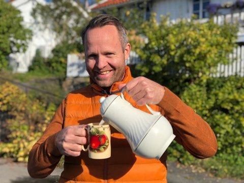 VELGER BORT DRØBAK: Turistsjef Atle Conradsen tilbringer påska på familiehytta i Telemark.