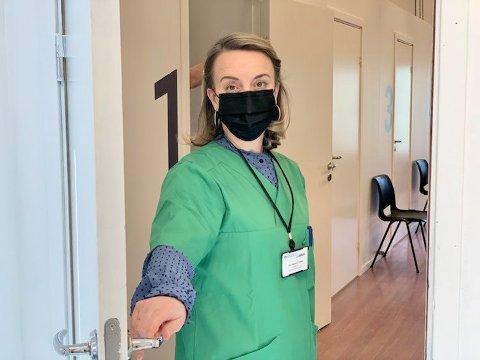 Vaksinasjonskoordinator på Nesodden, Irena Stjepanovic Vatlum.  FOTO: Camilla Moe Røisland/FHI