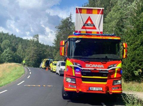 Nødetatene har rykket ut til MC-ulykke på Nesodden onsdag ettermiddag.