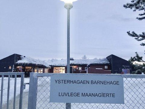 YSTERHAGAEN BARNEHAGE:  Røros kommune eier og driver fem barnehager, i tillegg til at det er to private barnehager; Stenbråttet på Røros og Galåen naturbarnehage i Galåen. Foto: Guri Jortveit