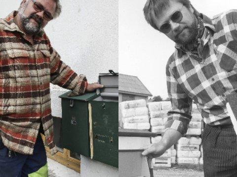 FØR OG NÅ: Rolf Egil Krog startet egen bedrift i 1990. Nå har han tatt opp igjen karrieren som anleggsmaskinfører.