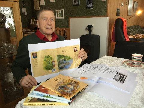 NY BOK: Leif Kåre Kvangraven er klar med sin femte bok med lokale historier og folkehumor. - Den foreløpig siste, sier forfatteren.