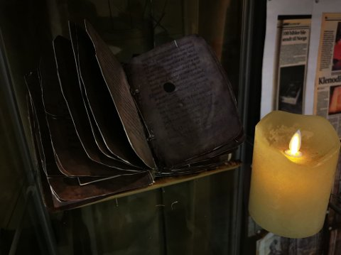 KVIKNE-PSALTERET: Kopi av Kvikne-psalteret, Norges eldste norskproduserte bok.