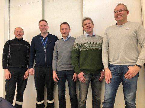 Fra venstre: Frode Bakos, Bjørn Klevahaugen, Arve Engen, Hans Petter Kvikne og Gudbrand Rognes.