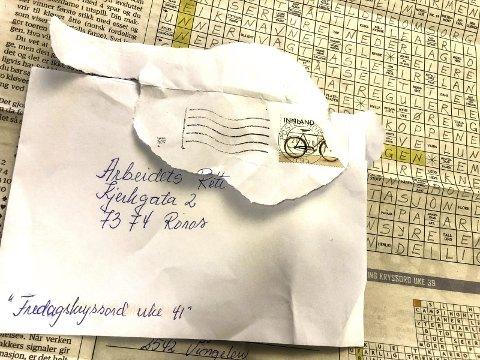 SEN POSTGANG: Postgangen fra Vingelen til Røros tok ei hel uke for denne kryssordløsningen. FOTO: Guri Jortveit