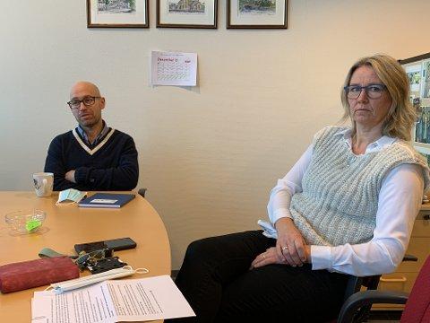 Tynset: Ordfører Merete Myhre Moen og kommuneoverlege Tor Halvor Bjørnstad Tuveng.