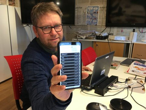 Nettansvarlig i Arbeiders Rett, Christian Søberg, viser frem appen som gir deg muligheter til å personalisere din nyhetsstrøm og samtidig få pushvarsler fra nyheter som du interesserer deg for!