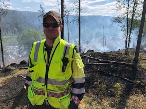Lars Jordet, utrykningsleder, Tolga brannvesen.