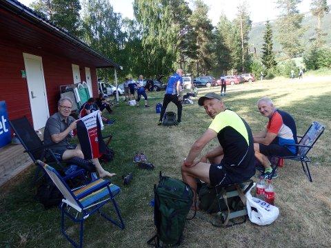 """GJØR SEG KLAR FOR START: I """"Rendalen for alle"""", f.v Petter Gullikstad, Hans Arild Skjevdal og Terje Schjølberg, alle fra Røros."""