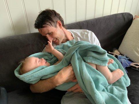 PAPPA: - Mest av alt her i verden ønsker jeg å være en pappa som er tilstede for sine barn, sier MS-rammede Kenth Frelsøy Brelin (32).