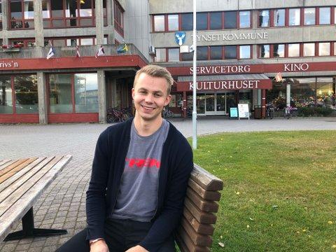 NYANSATT: Tolgingen Anders Midtskogen Urset (26) er ansatt som fagleder i Tynset kommune.
