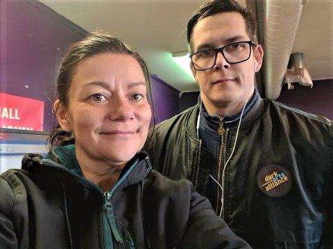 ALLIERT: Lajla Pentha Røe og Lars-Kristian Nerbø har slått sammen kreftene og etablert reklamebyrået Dark Arts Alliance i Folldal.