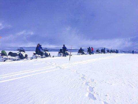 Gauldalsløypa: Dette bildet er tatt vinteren 2019, det første året Gauldalsløypa var åpen. Allerede nå er det solgt omtrent like mange kort som hele 2019-sesongen, og en forventer derfor rekordhøyt salg i vinter. Foto: Renée Svendsen