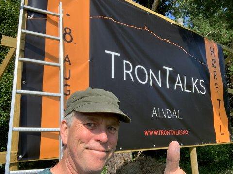 FESTIVALSJEF: Glenn Erik Haugland lover a-ha garanti under årets utgave av Tron Talks.