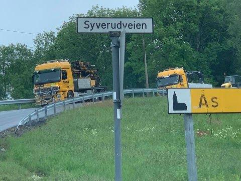 FÅR NYTT AUTOVERN: Sundbyveien mot Nordby.