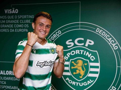 TALENT: Nicolai Alexander Georgsen Skoglund (17) fra Sjøskogen startet fotballkarrièren i Nordby IL. Nå følger han i fotsporene til Cristiano Ronaldo i Sporting Cluve de Portugal.