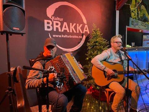 Slik så det ut da Kulturbrakka arrangerte sin første konsert sist mandag.