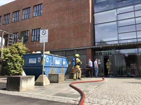 Brannvesenet rykket ut til NMBU i Ås onsdag.