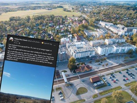 NORGES STYGGESTE? Facebook-innlegget til Tobias Horn Semb (22) om at Ås er blant de styggeste stedene i Norge har vakt mange reaksjoner.