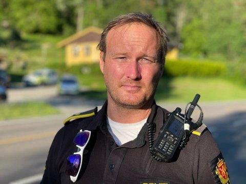 TA DET MED RO: UP-leder i Follo Rune Dahl håper folk tar det rolig i trafikken i ferien. Trafikkontroller blir det, lover han.
