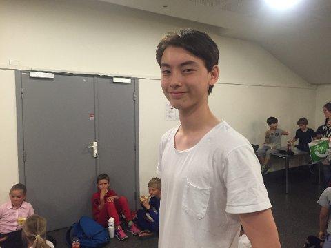 LÆRERIKT: – Vi har vært med å lage noe vi er skikkelig stolte av, forteller Herman Bruvik (14), elevrådsleder ved skolen.