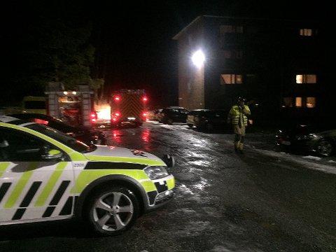 BRANN PÅ KJØKKEN: Alle nødetater rykket torsdag kveld ut til en brann i en leilighet på Dikemark.