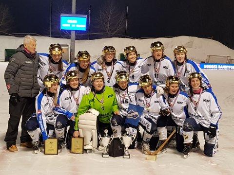 GULLVINNERE: Stabæks gullvinnere i bandy 2018.