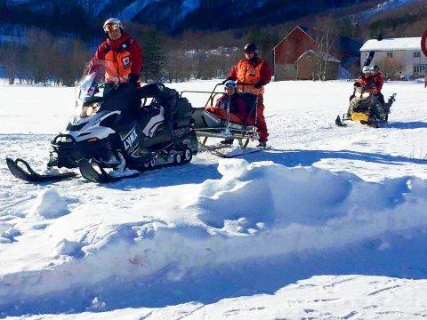 Sunndal Mannskap fra Røde Kors Hjelpekorps på vakt i påskefjellet. Foto: Geir Atle Oldervik