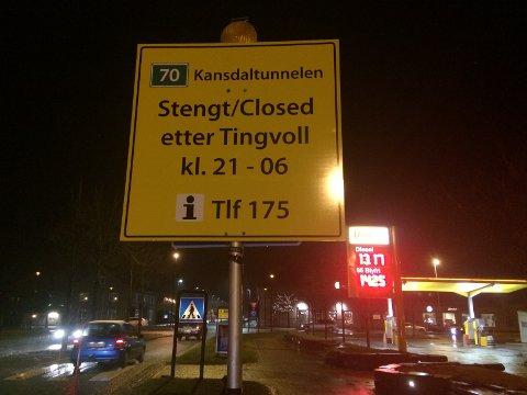Riksvei 70 stenger helt mellom Gyl og Øydegard natt til mandag