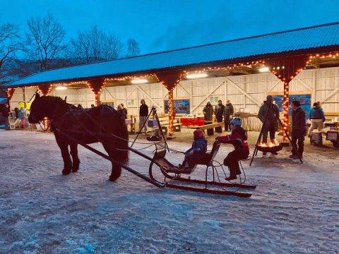 Julemarked i økoparken, dette er fra i fjor.