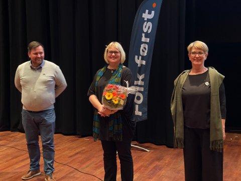 Tre på topp: Fra venstre: Frode Heimen, Lena Landsverk Sande, Ragnhild Helseth