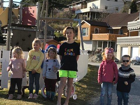 Ønsker seg saktekjørende biler: Barnefamiliene på Opdøl håper at bilistene senker farte mellom boligfeltet og Flå.