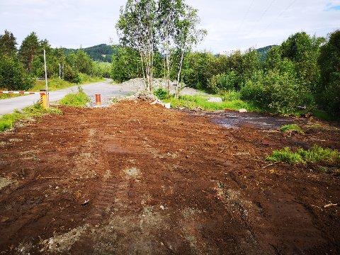 Slik framstår terrenget nå som filtermassene er fjernet.