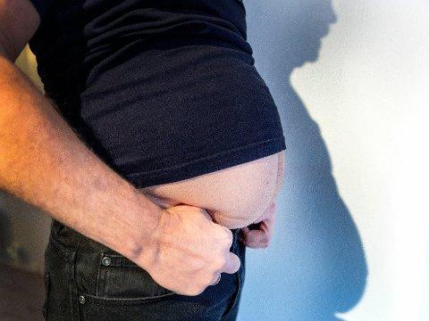 En BMI på over 25 regnes som overvekt, mens BMI over 30 regnes som fedme. Illustrasjonsfoto:Foto: NTB (NTB scanpix)