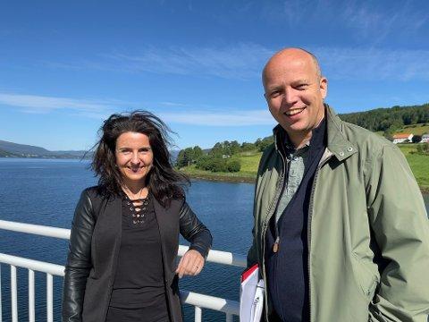 Jenny Klinge og Tryygve Slagsvold Vedum på Kvanne - Rykkjem i høst.