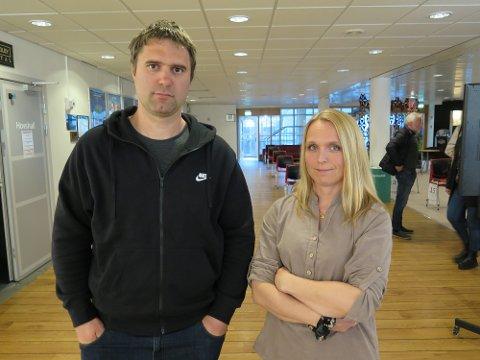 Møtte opp: Eivind og Solveig Jenstad var blant dem som tok turen til møtet onsdag kveld.