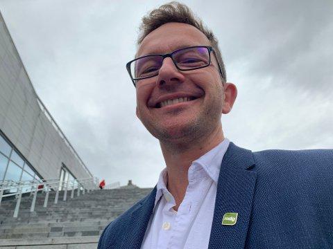 Carl Johansen er gruppeleder for MDG i fylkestinget og partiets førstekandidat i stortingsvalget. - Dette er en ekstremt motiverende måling, sier han om 5,0 prosent oppslutning på Respons' august-måling.