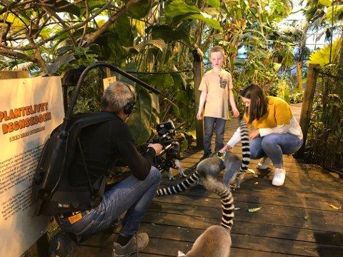 – De måtte filme det samme om igjen og om igjen. Vi filma både hjemme hos meg og oppe i dyrehagen, sier Noah Reiersen.