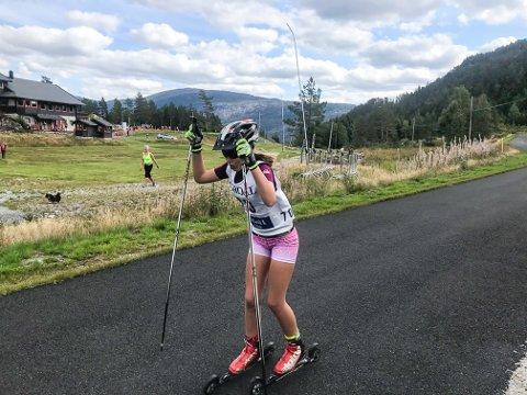 OVERLEGEN: Gudrun Fidje Gryting vant KM-gull i tolvårsklassen.