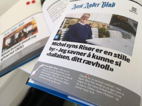 Aust-Agder Blads sak om Michel er med i den nye boka om kuriositeter fra norsk lokalpresse.