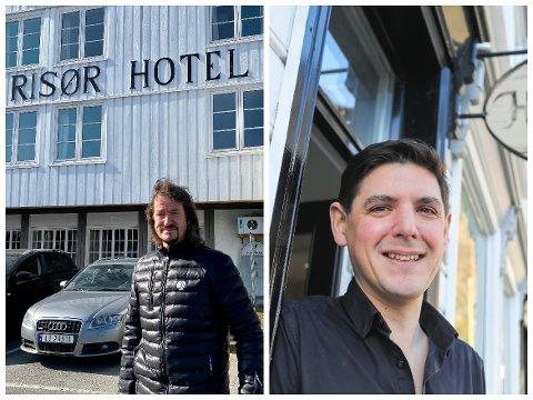 Eier av Risør Hotel, Dag Eikeland og daglig leder ved Det Lille Hotel, David Arnesen kan være inne i en rekordmåned.