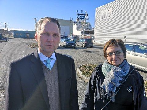 IKKE FORNØYD: CEO hos IMS Group AS Roy Langseth og daglig leder i Resolve AS Anne Hudalen er ikke fornøyd med E18-kompromisset for næringslivets del.